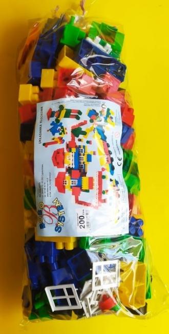 Velká plastová stavebnice - 200 ks