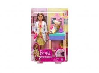 Barbie Povolání herní set dětská doktorka bruneta GTN52