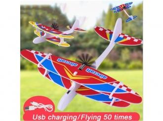 Házecí letadlo dvouplošník - USB nabíjení