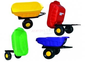 Vlek jednoosý za šlapací traktor-čtyřkolku
