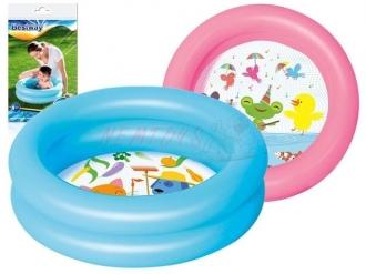 Nafukovací bazének s motivem (růžový/modrý), 61x15cm
