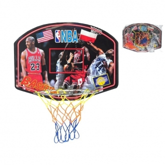 Basketbalový koš velký 60x47cm s dřevěnou deskou