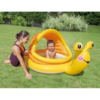 Dětský nafukovací bazén Šnek se stříškou 145x102x74cm INTEX 57124