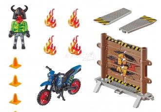 PLAYMOBIL® Stunt Show 70553 Motorka s ohnivou stěnou