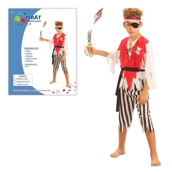 Karnevalový kostým PIRÁT 120-130cm