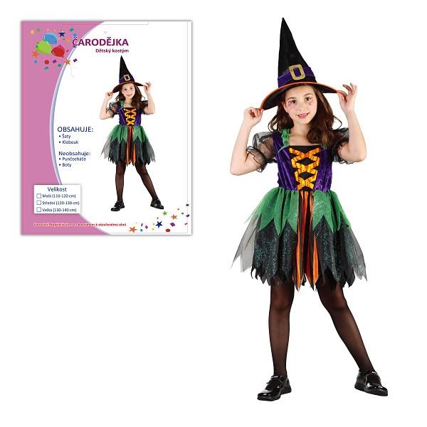Dětský karnevalový kostým  ČARODĚJKA
