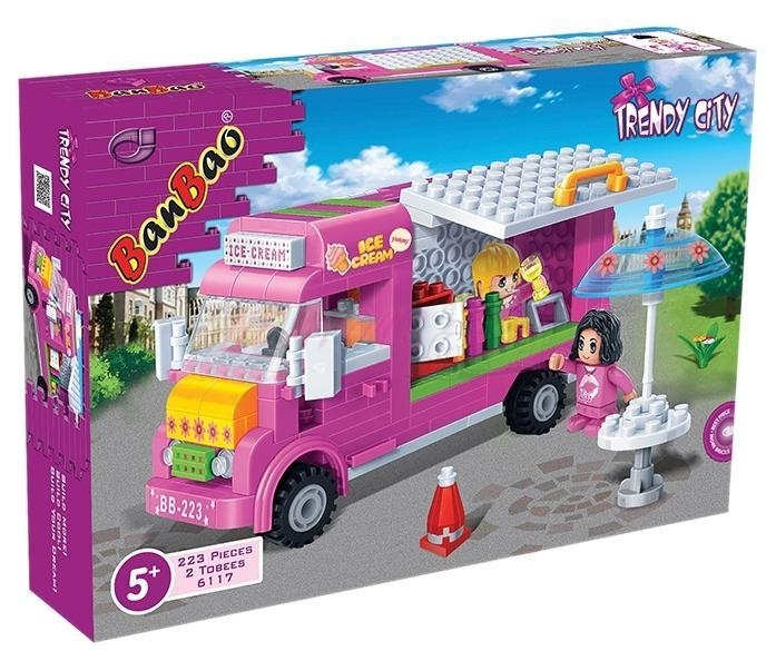 BanBao stavebnice Trendy City zmrzlinář 223ks + 2 figurky