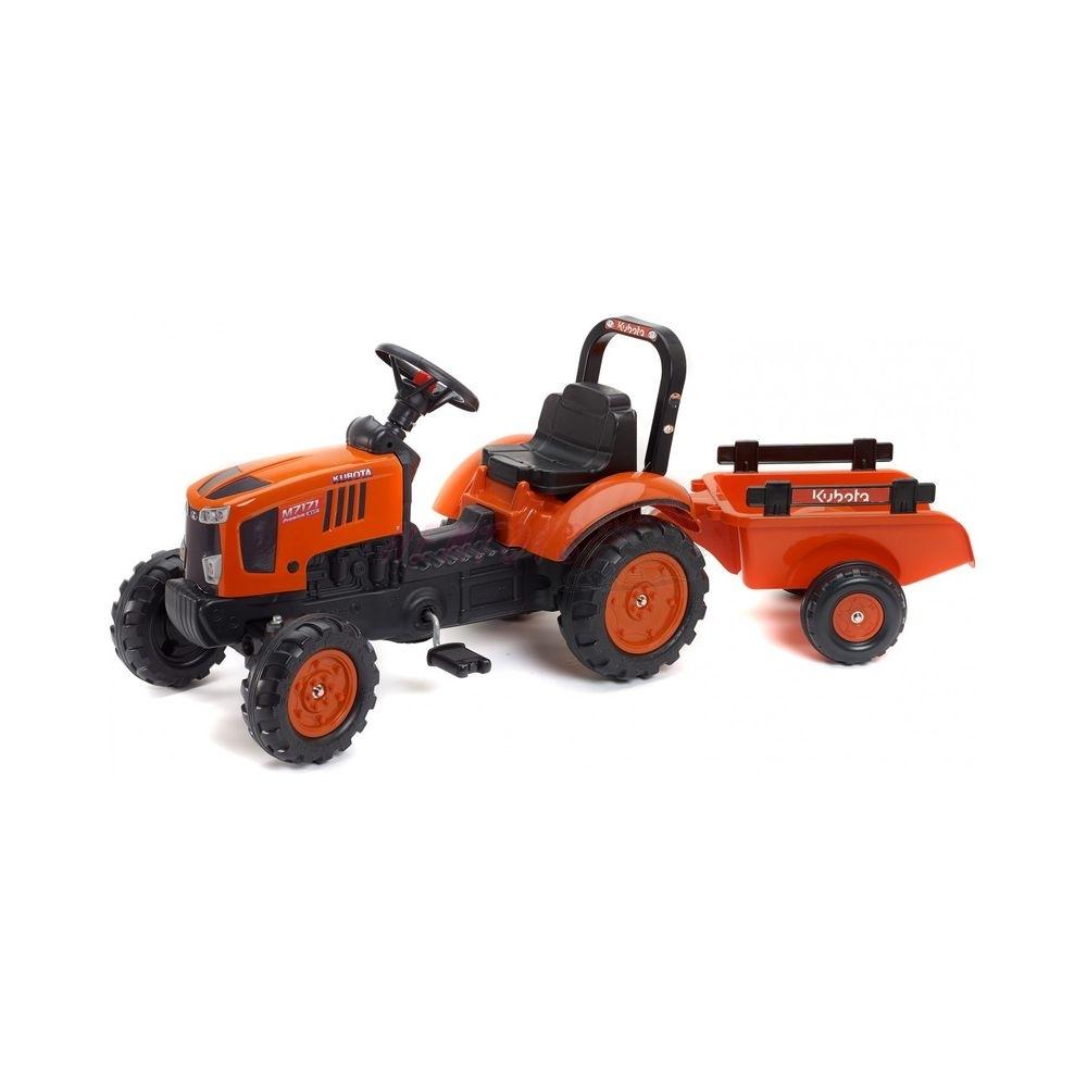 FALK - Šlapací traktor Kubota s vlekem