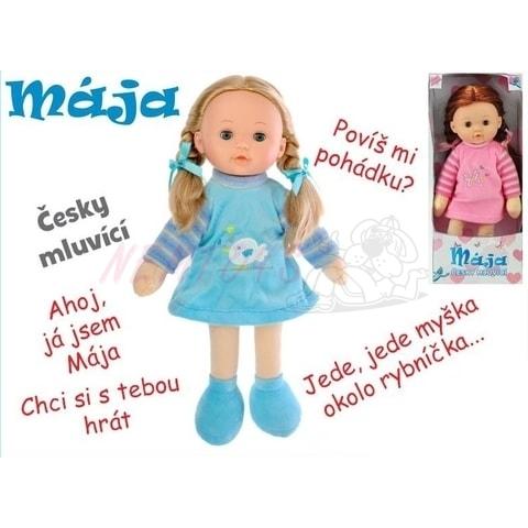 Panenka Mája mrkací 42cm  česky mluvící