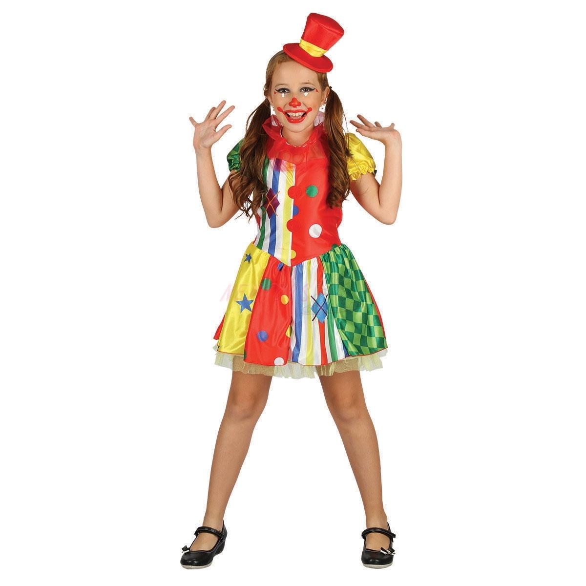 Karnevalový kostým KLAUN - 130-140 cm