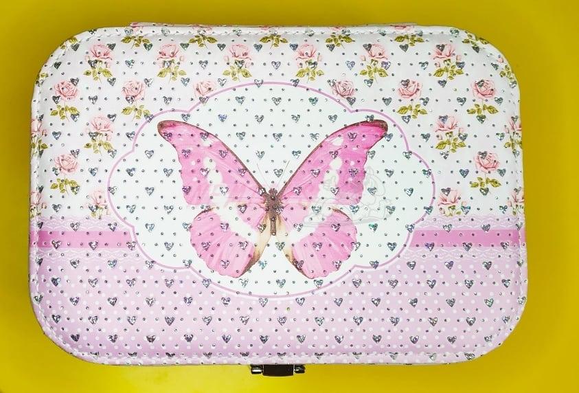 Šperkovnice s motýlkem-větší