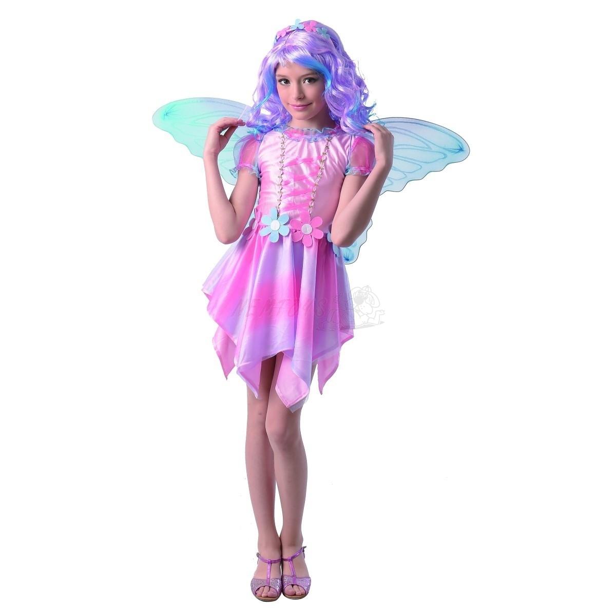 Dětský karnevalový kostým - víla motýl, 120 - 130  cm