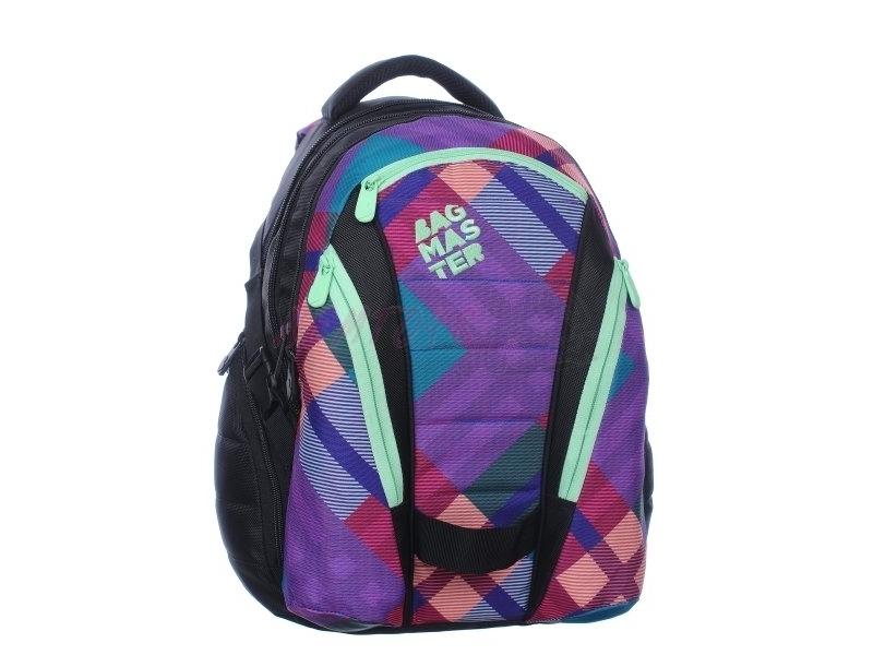 Dívčí studentský batoh BAG 0115 A PINK/GREEN