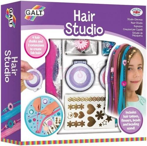 Vlasové studio - kreativní set s barevnými křídami a tetováním