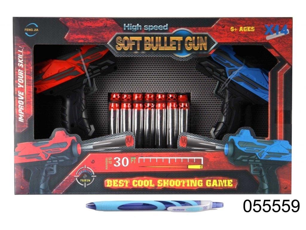 Pistole Eva na softové náboje - 2 kusy