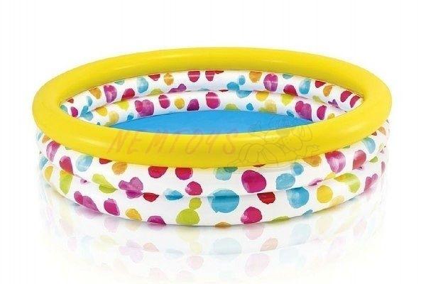 Bazén s puntíky nafukovací 3 komory 168x38 cm 2+